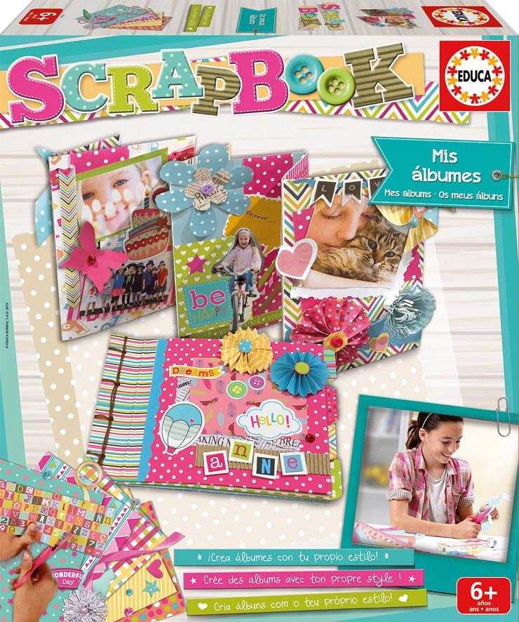 Álbumes de Scrapbook para niños de Educa Borras. Blog de juguetes. Jueguetes E Ideas