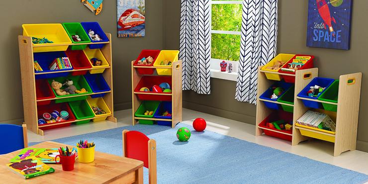 Muebles para juguetes nios good pequeas bibliotecas infantiles con y cajones with estantes para - Mueble organizador de juguetes ...