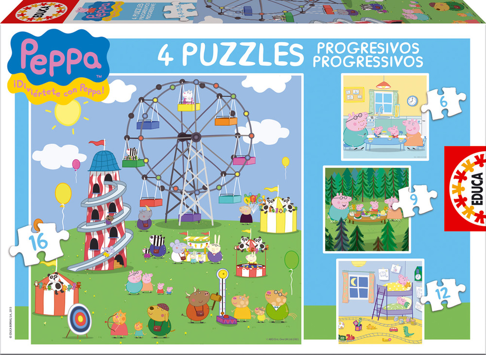 Educa lanza al mercado los juegos de peppa pig la cerdita - Puzzles para ninos pequenos ...