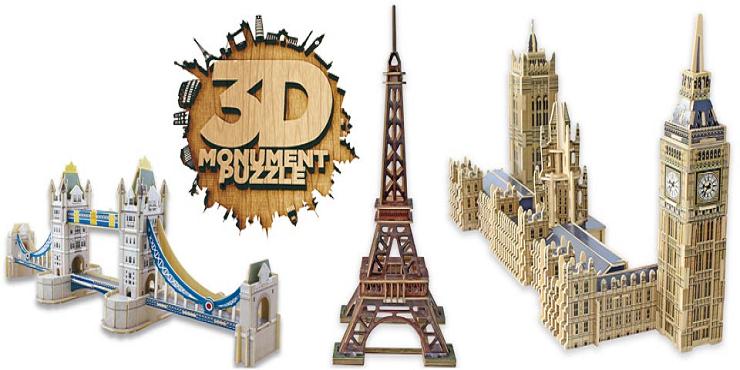 la vuelta al mundo con 3d monument puzzle de educa. Black Bedroom Furniture Sets. Home Design Ideas