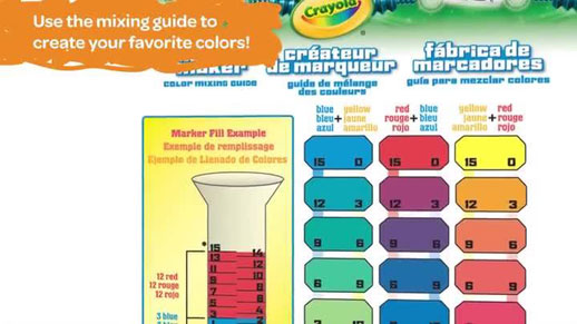 crayola marker maker color mixing guide Quotes
