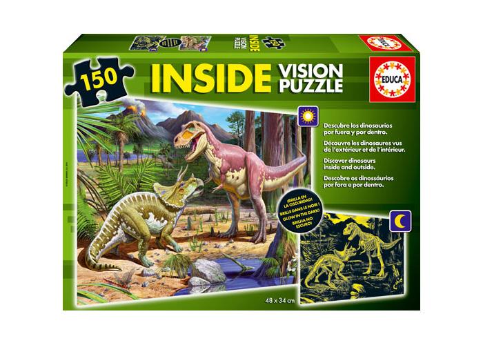EDUCA - Inside Vision Puzzle Dinosaurios