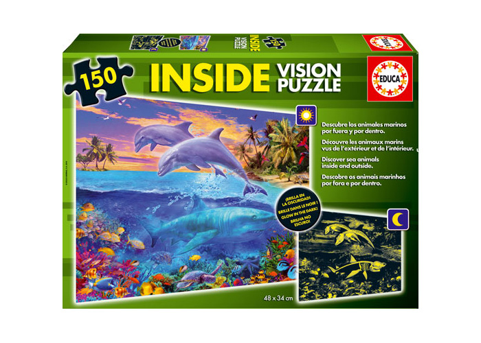 EDUCA - Inside Vision Puzzle Mundo Acuático