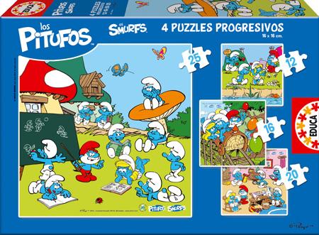 Nuevos juegos de los pitufos de educa blog de juguetes - Caja rompecabezas ...