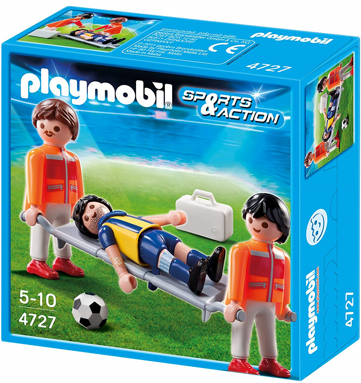 playmobil-fútbol-camillero-jugador-lesionado