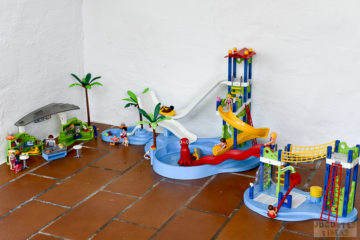 Playmobil parque acu tico 2016 summer fun for Playmobil piscina con tobogan