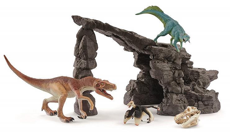 set-dinosaurios-con-cueva-schleich