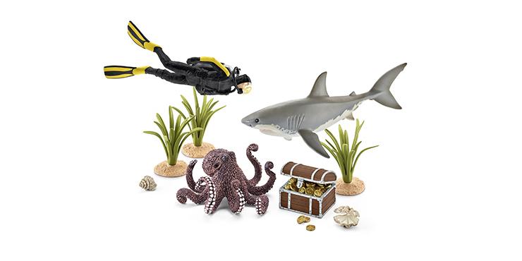 fondo-coral-buceador-tesoros-schleich