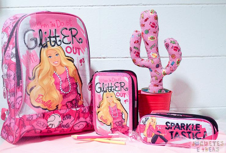 vuelta-al-cole-mochila-estuche-Barbie-Glitter